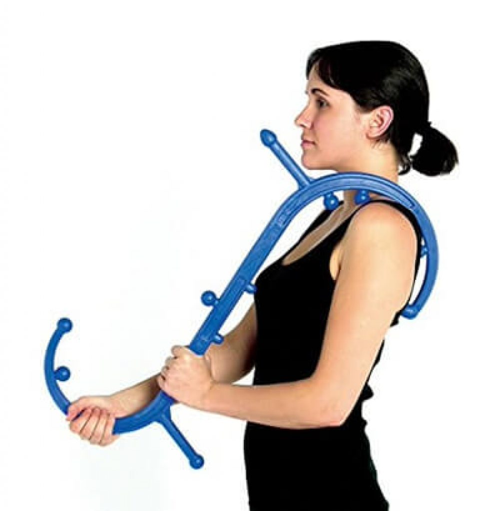 Body Back Buddy Back Massager (Blue) | Handheld Massage Stick | Trigger Point Massager