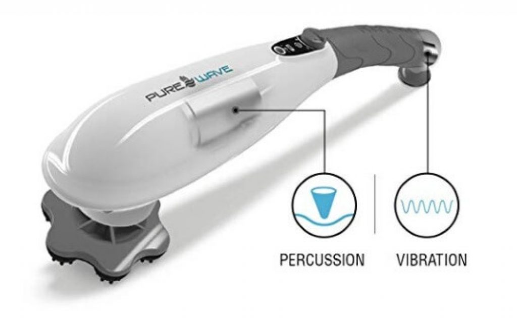 PUREWAVE™ CM-07 Dual Motor Percussion + Vibration Therapy Massager (White) | Official Patented CM-07™ | Treat Pain For Back, Sciatica, Neck, Leg, Foot, Plantar Fasciitis