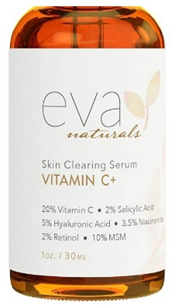 Vitamin C Serum Plus 2% Retinol, 3.5% Niacinamide, 5% Hyaluronic Acid, 2% Salicylic Acid, 10% MSM, 20% Vitamin C - Skin Clearing Serum - Anti-Aging Skin Repair, Supercharged Face Serum (1 oz